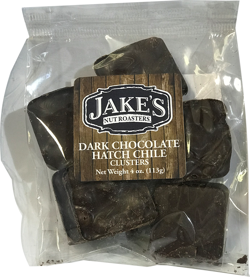 Jakes Dark Chocolate Hatch Chile Clusters sm