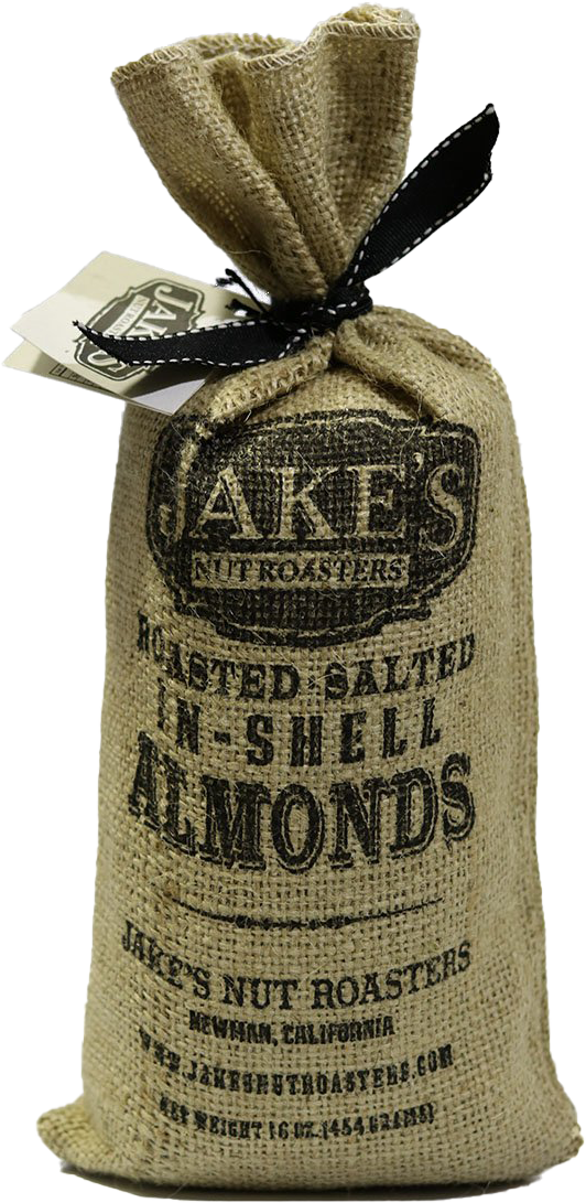 Jakes Roasted In Shell Almonds Sack